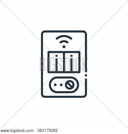 room heater icon isolated on white background from smart home collection. room heater icon trendy an