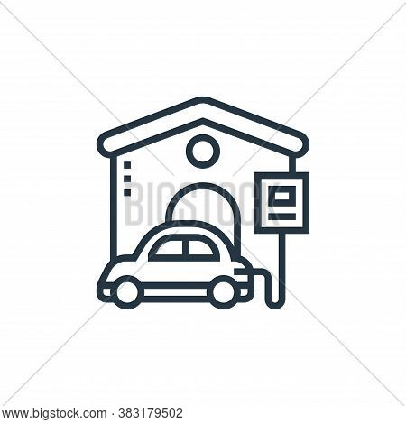 charger icon isolated on white background from electric vehicle collection. charger icon trendy and