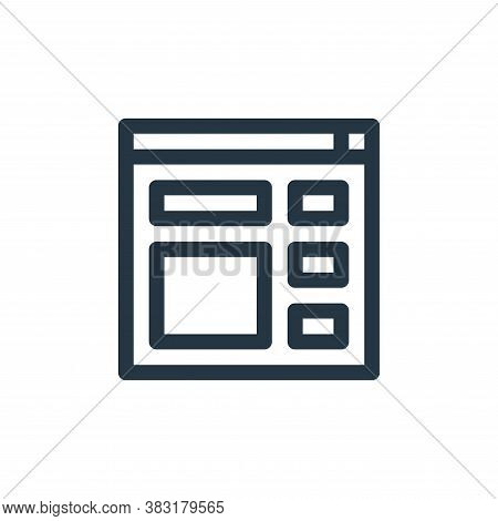website icon isolated on white background from graphic design collection. website icon trendy and mo