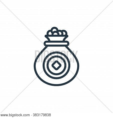 coins icon isolated on white background from chinese new year collection. coins icon trendy and mode