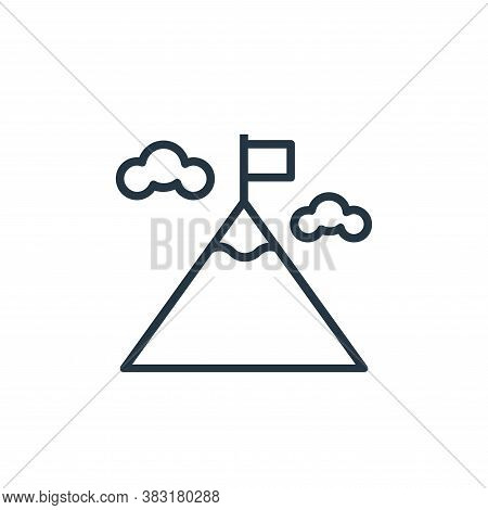 mission icon isolated on white background from banking and finance collection. mission icon trendy a