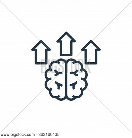 brain icon isolated on white background from startup and development collection. brain icon trendy a