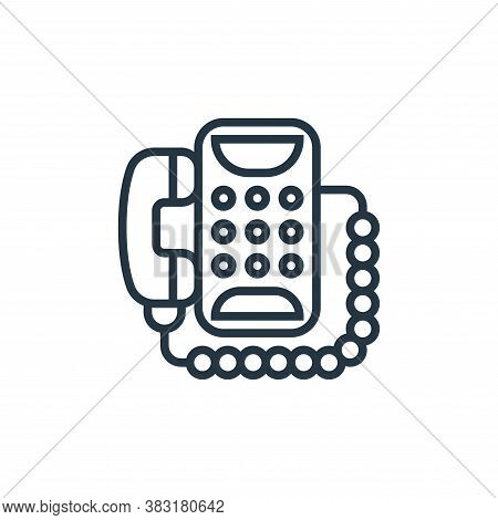 telephone icon isolated on white background from home appliances collection. telephone icon trendy a