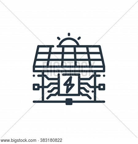 solar house icon isolated on white background from smart home collection. solar house icon trendy an