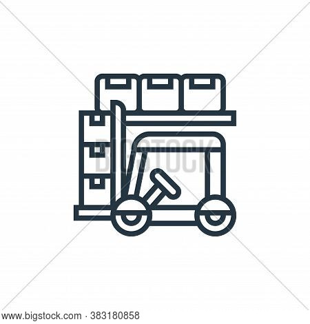 forklift icon isolated on white background from industry collection. forklift icon trendy and modern