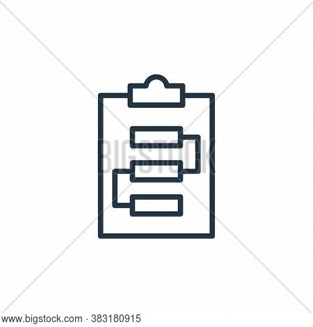 planning icon isolated on white background from startup and development collection. planning icon tr