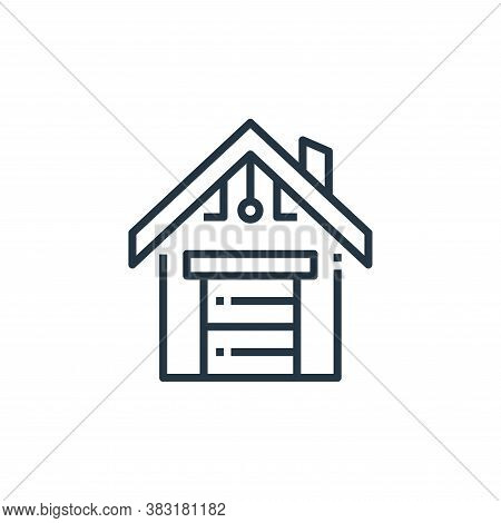smart garage icon isolated on white background from smart home collection. smart garage icon trendy