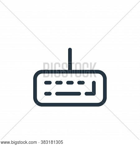 keyboard icon isolated on white background from media collection. keyboard icon trendy and modern ke