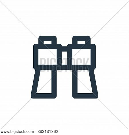 binoculars icon isolated on white background from outdoor collection. binoculars icon trendy and mod