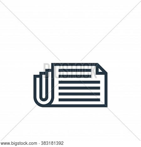 newspaper icon isolated on white background from business collection. newspaper icon trendy and mode