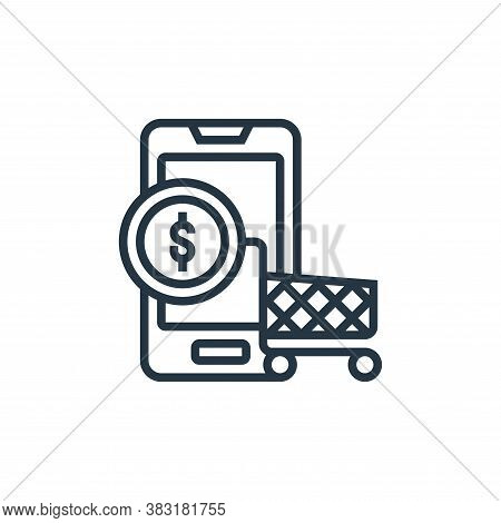 ecommerce icon isolated on white background from digital marketing collection. ecommerce icon trendy
