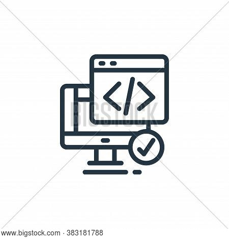 coding icon isolated on white background from design tools collection. coding icon trendy and modern