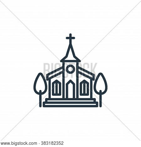 church icon isolated on white background from easter day collection. church icon trendy and modern c
