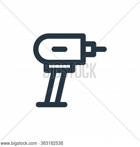 drill icon isolated on white background from laboor and tools collection. drill icon trendy and mode