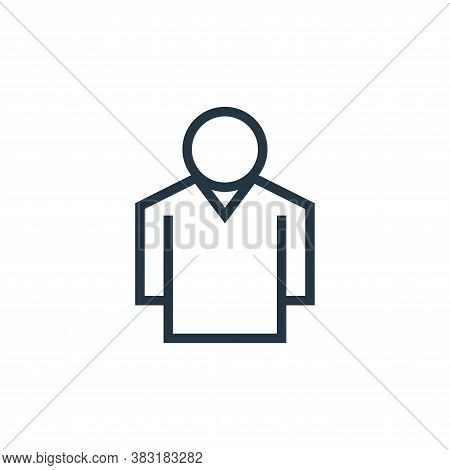 man icon isolated on white background from business collection. man icon trendy and modern man symbo