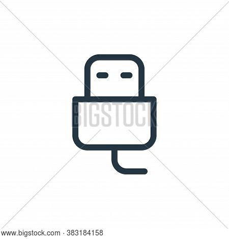 usb cable icon isolated on white background from media collection. usb cable icon trendy and modern