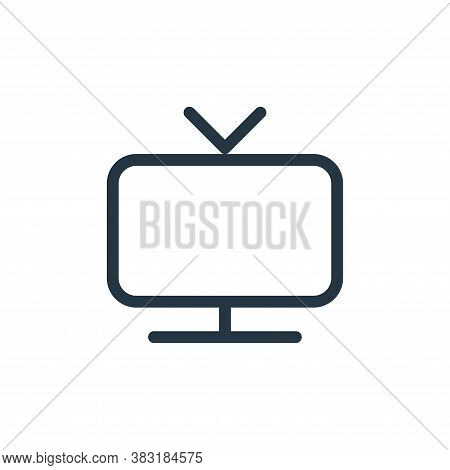 television icon isolated on white background from media collection. television icon trendy and moder