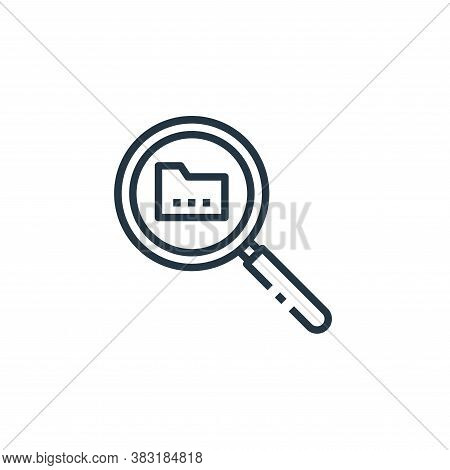search icon isolated on white background from office collection. search icon trendy and modern searc