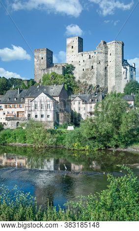 Famous Medieval Village Of Runkel At Lahnriver,westerwald Region,hesse,germany