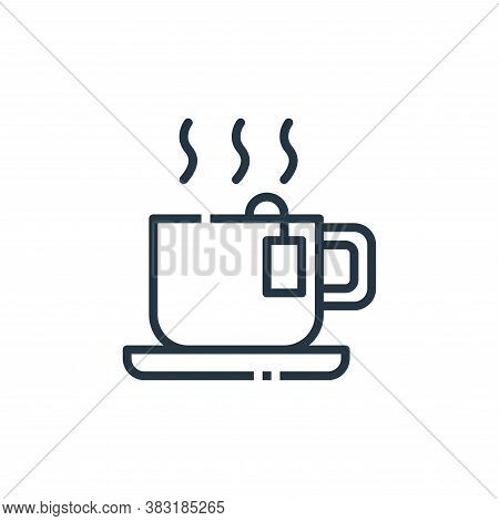 tea icon isolated on white background from office collection. tea icon trendy and modern tea symbol