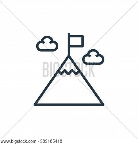 achievement icon isolated on white background from startup and development collection. achievement i