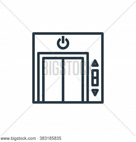 lift icon isolated on white background from smarthome collection. lift icon trendy and modern lift s