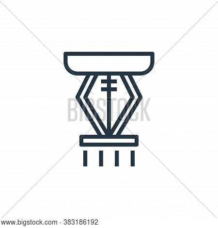 sprinkler icon isolated on white background from smarthome collection. sprinkler icon trendy and mod