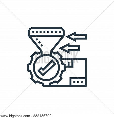 processing icon isolated on white background from industrial process collection. processing icon tre