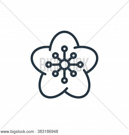 flower icon isolated on white background from chinese new year collection. flower icon trendy and mo