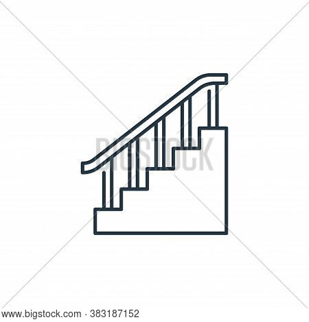 stairs icon isolated on white background from interior design collection. stairs icon trendy and mod