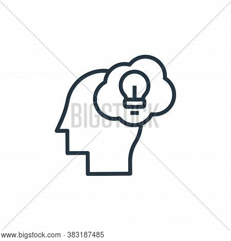 creativity icon isolated on white background from startup and development collection. creativity ico