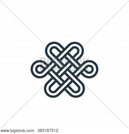 knot icon isolated on white background from chinese new year collection. knot icon trendy and modern