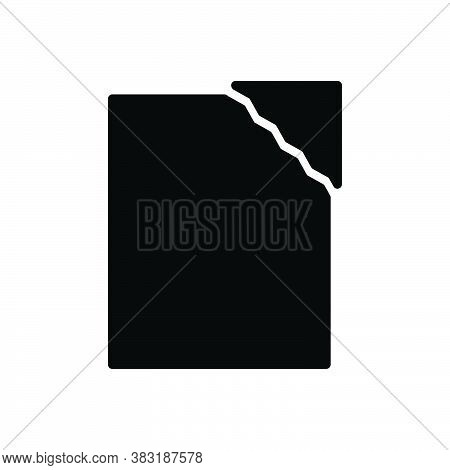 Black Solid Icon For Of-paper Split Tear Sheet Document Blank
