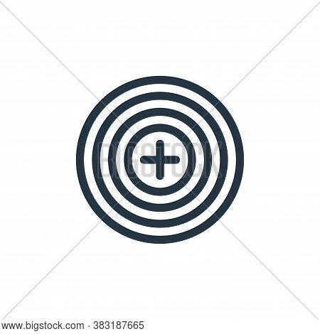 target icon isolated on white background from finance collection. target icon trendy and modern targ
