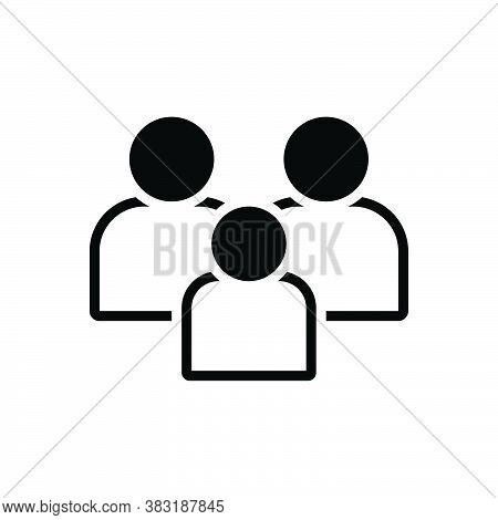 Black Solid Icon For Family Tribe People Folk Group Ancestry Heritage Genealogy Human Together