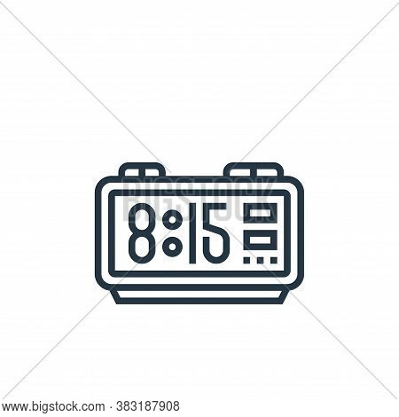 digital clock icon isolated on white background from home appliances collection. digital clock icon