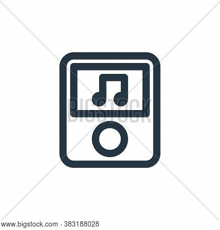 music player icon isolated on white background from arts collection. music player icon trendy and mo