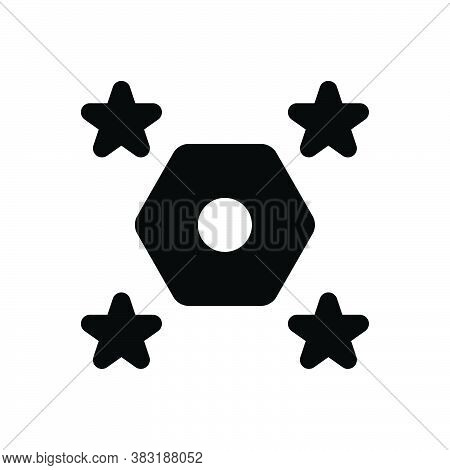 Black Solid Icon For Odds Difference Distinction Spacing Distance Disparity Stars