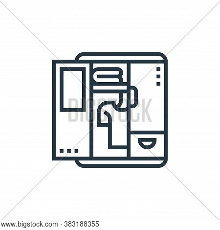 cabinet icon isolated on white background from home appliances collection. cabinet icon trendy and m