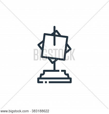 paper holder icon isolated on white background from office collection. paper holder icon trendy and