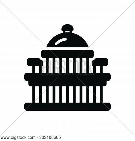 Black Solid Icon For Capital Metropolis Chief-town Megalopolis  Dominant Architecture Landmark State