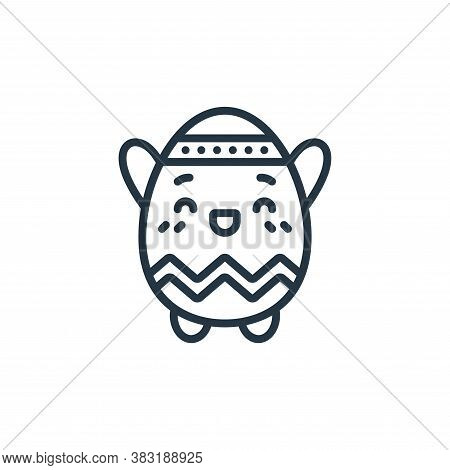egg icon isolated on white background from easter avatars collection. egg icon trendy and modern egg