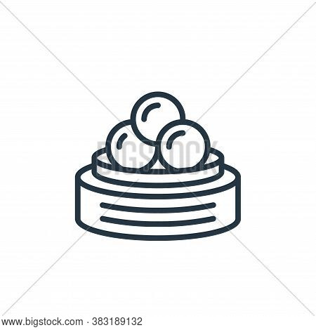 dumpling icon isolated on white background from chinese new year collection. dumpling icon trendy an