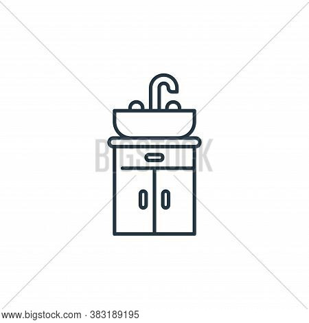 basin icon isolated on white background from interior design collection. basin icon trendy and moder