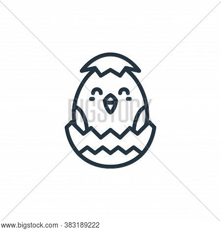 chick icon isolated on white background from easter avatars collection. chick icon trendy and modern