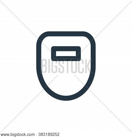 welding mask icon isolated on white background from laboor and tools collection. welding mask icon t