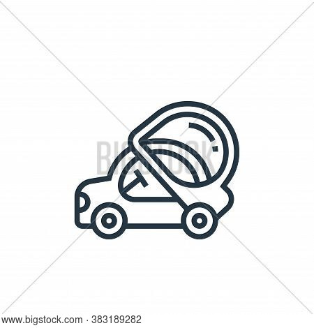 automotive icon isolated on white background from electric vehicle collection. automotive icon trend