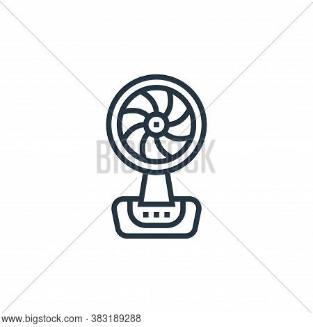 fan icon isolated on white background from home appliances collection. fan icon trendy and modern fa