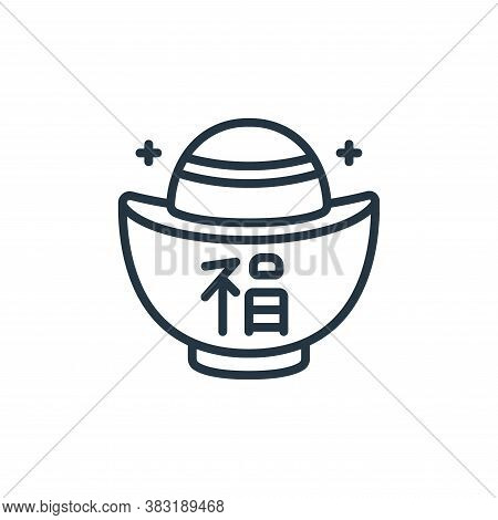 gold icon isolated on white background from chinese new year collection. gold icon trendy and modern