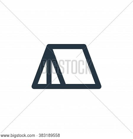 camp icon isolated on white background from outdoor collection. camp icon trendy and modern camp sym